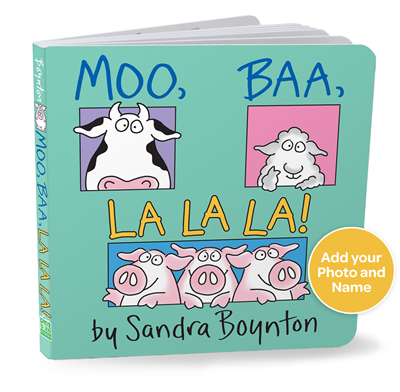 Moo, Baa, La La La! Personalized Board Book